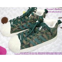 Sale Off Giày thể thao nữ họa tiết lính sành điệu GTU106