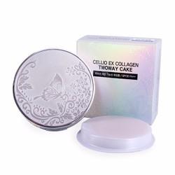Phấn phủ siêu mịn 2 lỗi Cellio Ex Collagen Twoway Cake SPF 30, PA++