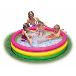 Bể bơi cầu vồng 3 tầng 147x33 Intex 57422