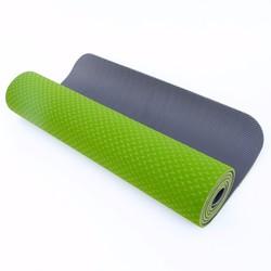 Thảm tập yoga  2 lớp 6mm - Xanh lá - Tặng túi thời trang