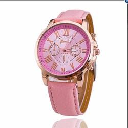 Đồng hồ nữ dây da tổng hợp Geneva gt001