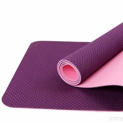 Thảm tập yoga 2 lớp 6mm - Màu tím - Tặng túi thời trang