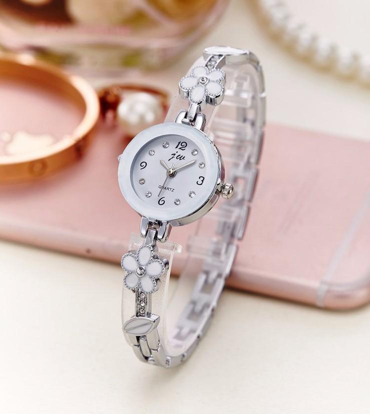 Đồng hồ dây lắc tay đính hoa thời trang dễ thương WH-8022 6