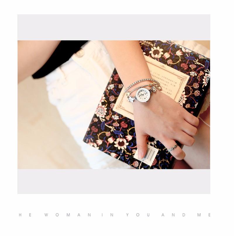Đồng hồ dây lắc tay đính hoa thời trang dễ thương WH-8022 9