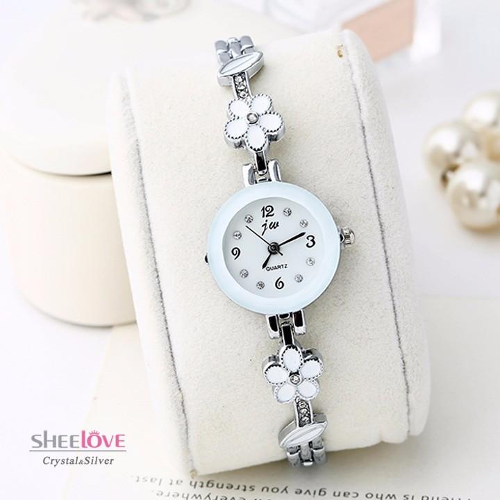 Đồng hồ dây lắc tay đính hoa thời trang dễ thương WH-8022 7