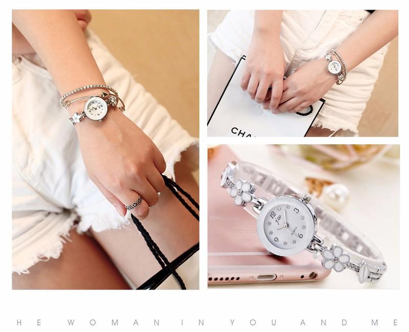 Đồng hồ dây lắc tay đính hoa thời trang dễ thương WH-8022 3