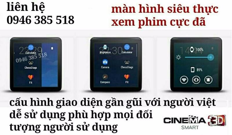 đồng hồ điện thoại SONY. siêu phẩm full HD mã W-Z1 6