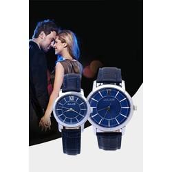 CỰC HOT đồng hồ cặp JULIUS JU992 xanh đen