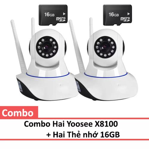 Combo 2 camera ip wifi app yoosee x8100 kèm 2 thẻ nhớ class 10 microsd 16gb - 12727794 , 5158338 , 15_5158338 , 796000 , Combo-2-camera-ip-wifi-app-yoosee-x8100-kem-2-the-nho-class-10-microsd-16gb-15_5158338 , sendo.vn , Combo 2 camera ip wifi app yoosee x8100 kèm 2 thẻ nhớ class 10 microsd 16gb