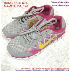 Sale off  giày thể thao nữ cổ thấp trẻ trung đáng iu GTU134
