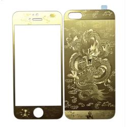 Miếng dán cường lực hình rồng 2 mặt dành cho Iphone5-5s