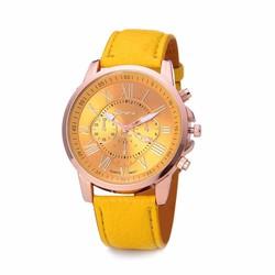 Đồng hồ nữ dây da tổng hợp Geneva gt002