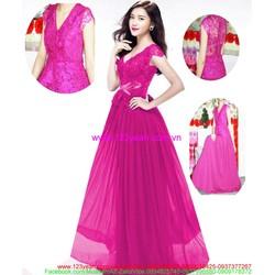 Đầm cô dâu ren hoa sắc tím quyến rũ kiêu sa DCE2