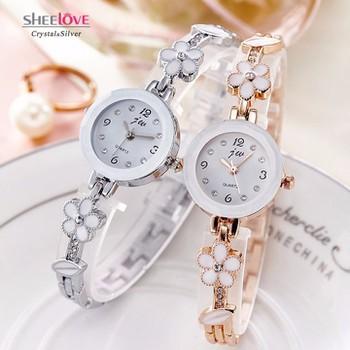 Đồng hồ nữ thời trang dây lắc tay đính hoa xinh xắn WH-8022