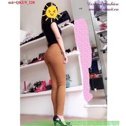 Quần kaki nữ lưng cao 1 nút rách 2 bên gối cá tính qQKU9