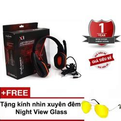 Tai nghe chụp tai Ovann Gaming. Tặng kính Nightview.