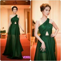 Đầm Maxi Lệch Vai Ngọc Trinh DVJ245