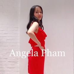 Đầm hai dây cổ đỏ