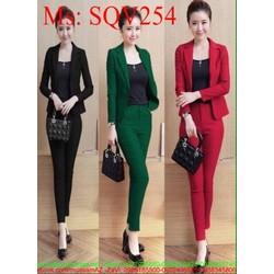 Sét áo dạng vest và quần dài thời trang kèm áo trong SQV254