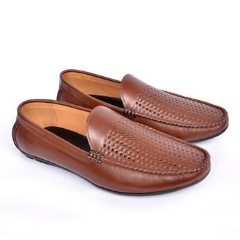 Giày Lười Hè Da Bò Cao Cấp SG160