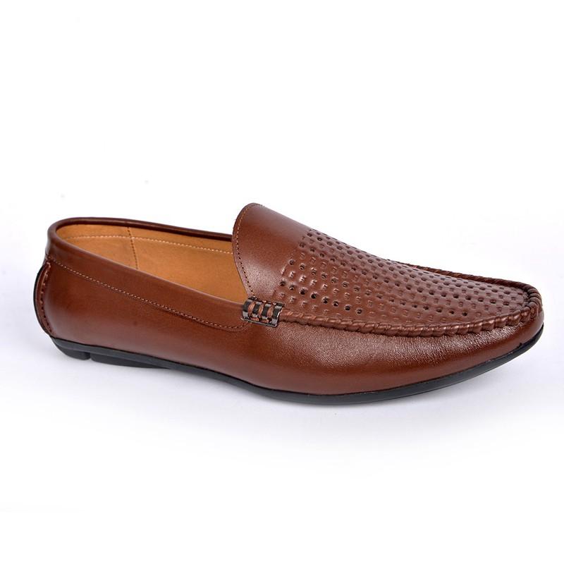 Giày Lười Hè Da Bò Cao Cấp SG160 8