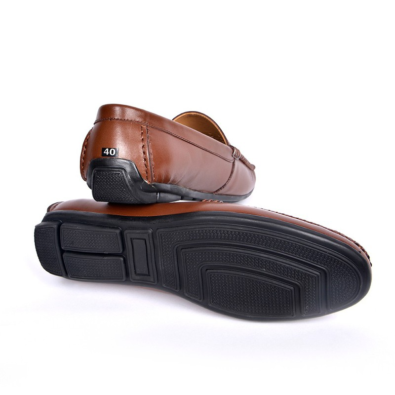 Giày Lười Hè Da Bò Cao Cấp SG160 6