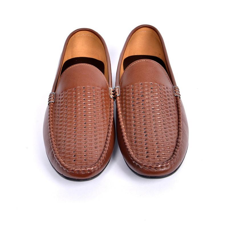 Giày Lười Hè Da Bò Cao Cấp SG160 2