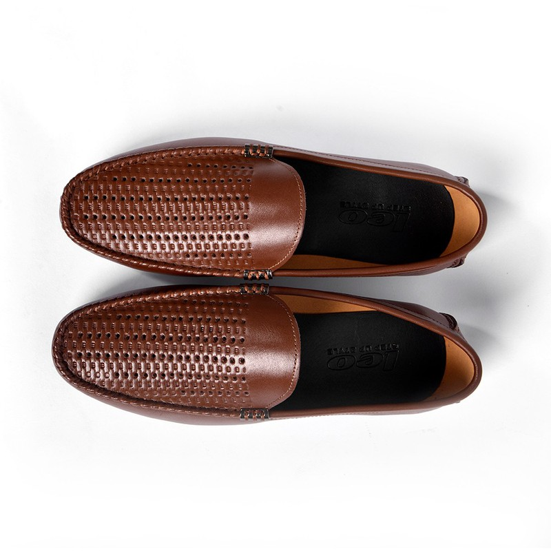 Giày Lười Hè Da Bò Cao Cấp SG160 5