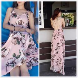 Đầm Maxi hoa cúp ngực - Hàng Quảng Châu chính gốc giá tốt