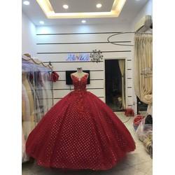 áo cưới đỏ sang trọng
