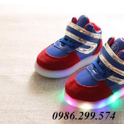 Giày phát sáng kiểu dáng thể thao kết hợp nhiều màu sắc cho bé