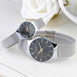 THỜI TRANG Đồng hồ nữ JULIUS Hàn Quốc dây thép không gỉ JU1129 Đen