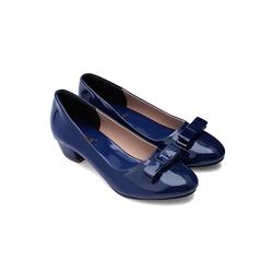 Giày gót vuông 5cm đính nơ TX7008