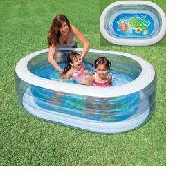 Bể bơi vuông trong suốt 163x107x46 Intex 57482