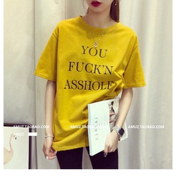 ÁO THUN TAY LỠ YOU FUCKN