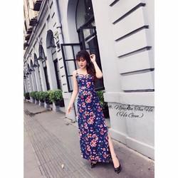 Đầm maxi voan hoa hot