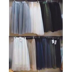 Chân váy công chúa-váy xếp ly