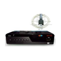 Đầu thu truyền hình mặt đất HD kèm anten 12m dây