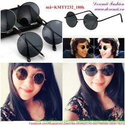 Kính mát thời trang gọng tròn mẫu mới phong cách KMTT232