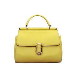 Túi xách nữ da bò thật cao cấp ELMI màu vàng ETM744
