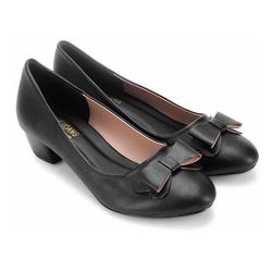 Giày gót vuông 5cm đính nơ TX7022