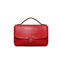 Túi xách nữ da bò thật cao cấp ELMI màu đỏ ETM736
