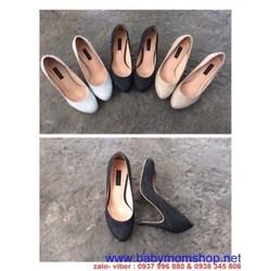 Giày cao gót mũi tròn chất liệu nhám sành điệu GCN192