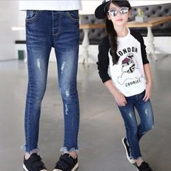 Quần jean ôm co giãn cao cấp cho bé gái từ 3 đến 12 tuổi - VG1002