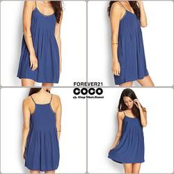 Váy 2 dây F21 màu xanh