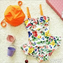 Set bơi hoa cam
