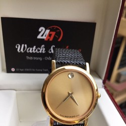 Đồng hồ nam dây da 0856 vàng đặc biệt