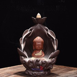 Tượng đốt trầm Phật tọa hang sen
