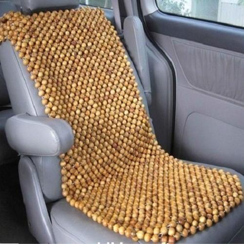Đệm lót ghế ô tô cao cấp hạt gỗ pơ mu – đặc ruột 1,5cm Phú Đạt 1