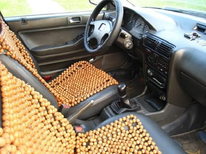 Đệm lót ghế ô tô cao cấp hạt gỗ pơ mu – đặc ruột 1,5cm Phú Đạt 2